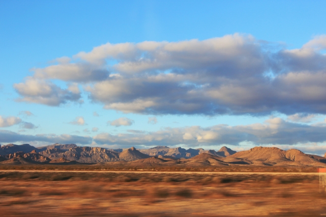 View of the red landscape as we drove through New Mexico