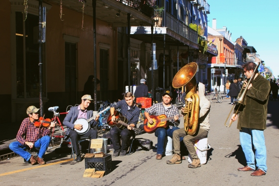 Random Jazz Band on the streets of New Orleans
